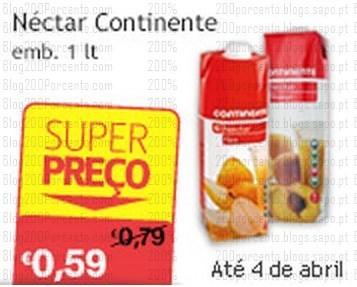 Super Preço   CONTINENTE   até 4 abril - Nectar