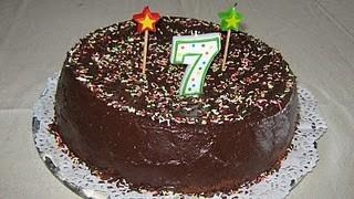 O bolo dos sete aninhos...