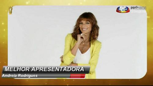 Andreia Rodrigues - melhor apresentadora entretenimento