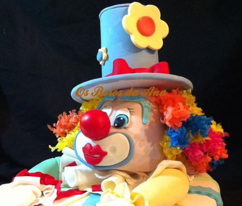 Bolo 3D Cara de Palhaço, os bolos da ana, bolos decorados