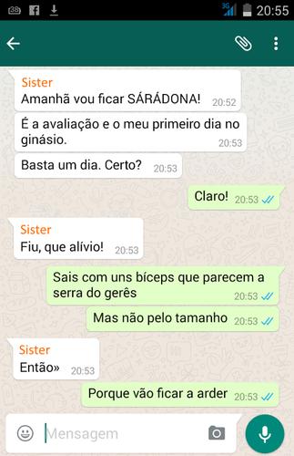 Whatsapp Maria das Palavras e Sister | Humor negro