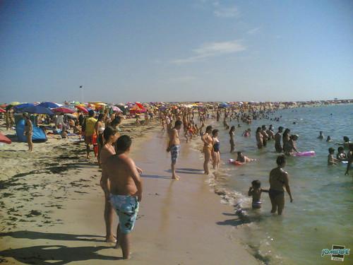 Praia do Cabedelinho estava cheia (Figueira da Foz