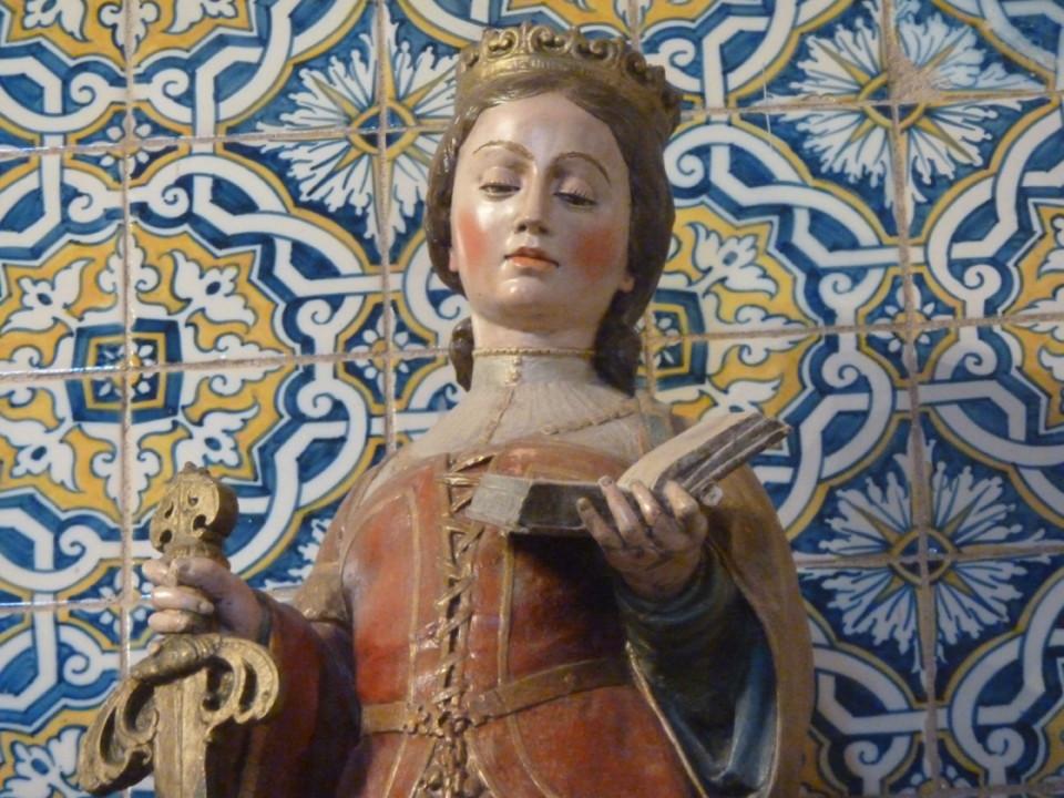 S. Catarina de Dornes, obra de João de Ruão.JPG