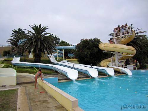 Aquaparque Teimoso na Figueira da Foz (12) Final dos escorregas [en] Teimoso Aqua park in Figueira da Foz Portugal