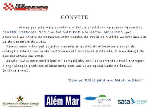 Convite para uma ação motorizada e solidária...