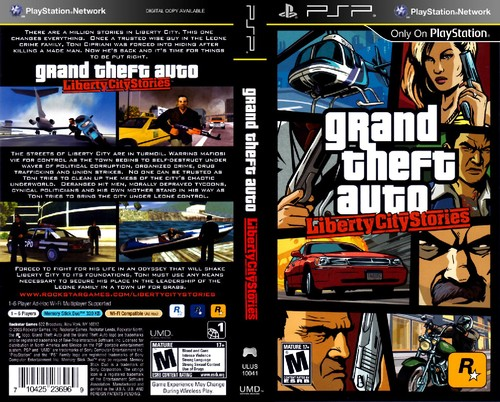 Capa do jogo: GTA Liberty City Stories