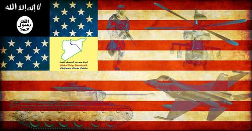 Futura Bandeira do Estado Plano (aka Curdistão Sírio, aka Rojava, aka Mais 1 Estado dos EUA)