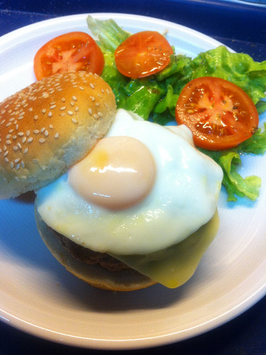 Say cheeese-burger!
