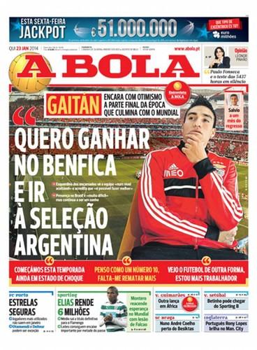 Jornal A Bola - Notícias - Capas - Destaques - Diários - 23 de Janeiro - Capas  de Imprensa - Jornais e Revistas 449da3d822fa7