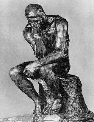 O Pensador, de Rodin...