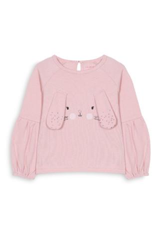Kimball-0798501-BG novelty rabbit crew pink,Grade