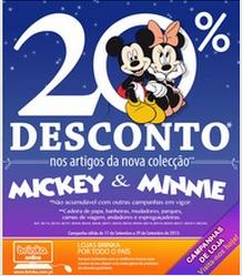 20% na Nova Coleção Minnie e Mickey na Brinca