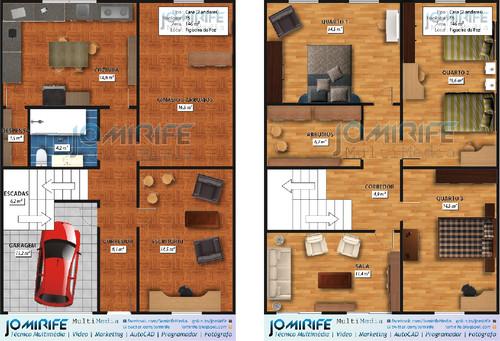Portfolio: Planta Humanizada - Casa T5 (mobilias)