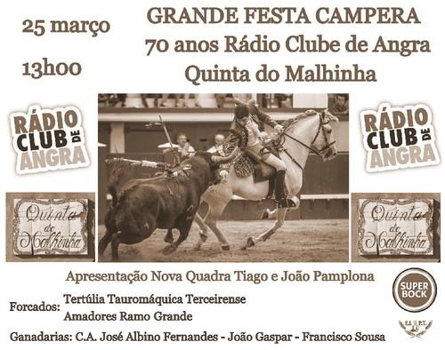 Cartaz Festa Campera RCA 70 anos Quinta do Malhinh