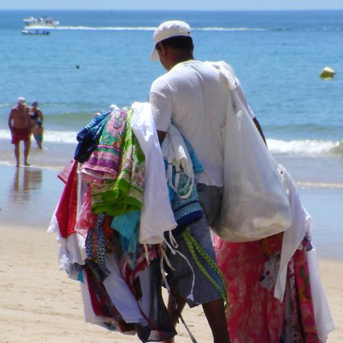 Vendedor de panos, Algarve, 2009