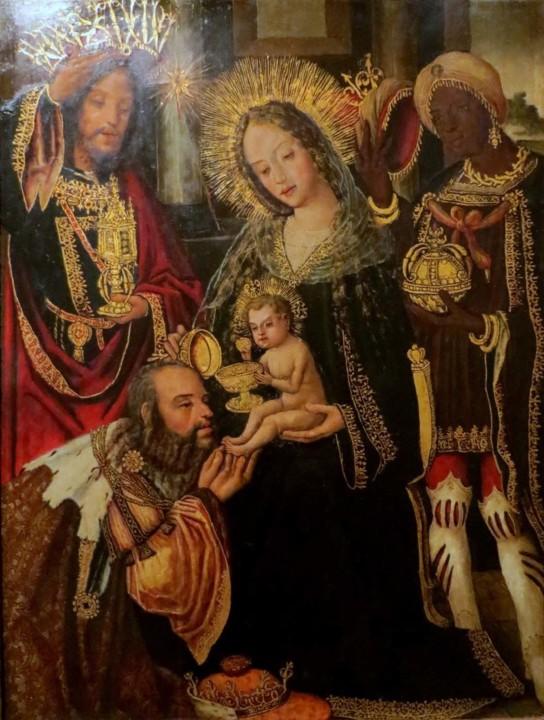 Mosteiro de Celas. Adoração dos Reis Magos. Pol