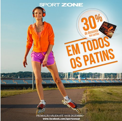 30% de desconto | SPORT ZONE | Patins