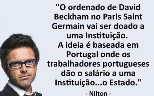 O ordenado do Beckham