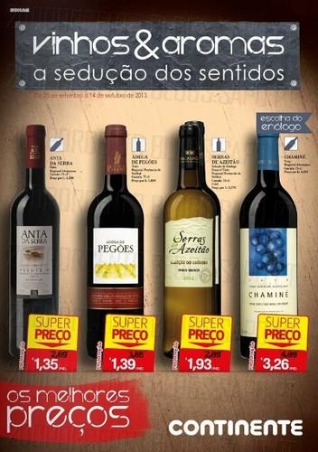 Folheto Continente Vinhos, Online, até 14 Outubro