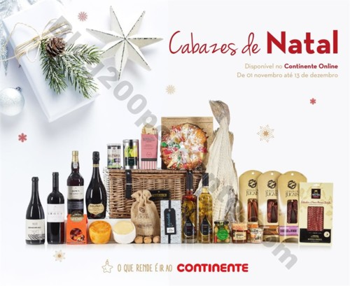 Antevisão Folheto CONTINENTE Cabazes de Natal 201