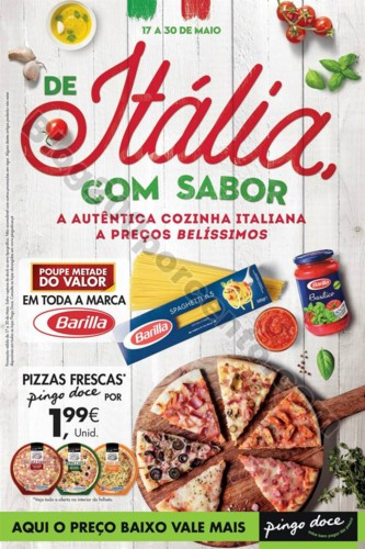 Antevisão Folheto PINGO DOCE Itália 17 a 30 maio