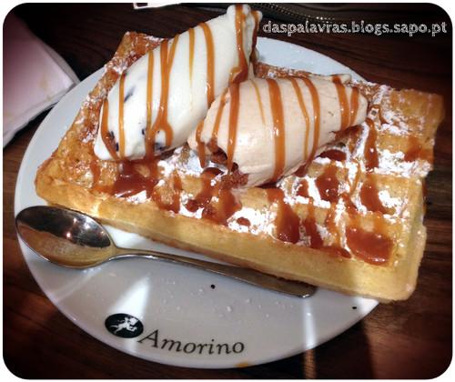 Waffle com gelado - Amorino