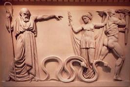 São Patrício a expulsar as cobras