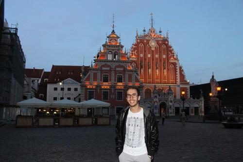 Eu em Riga