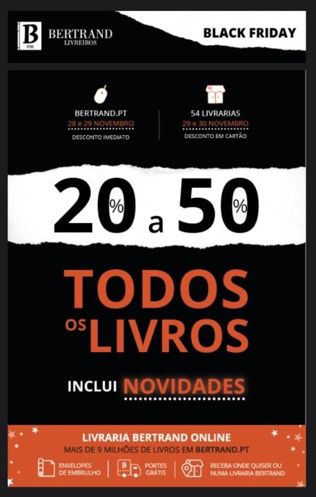 Black Friday  20 a 50 desconto em TODOS os livros