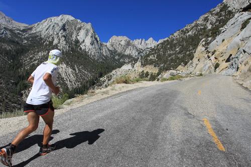 Carlos Sá, na ultramaratona Badwater, na Califórnia, EUA