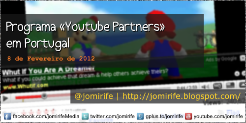 Blog: Programa Youtube Partners em Portugal