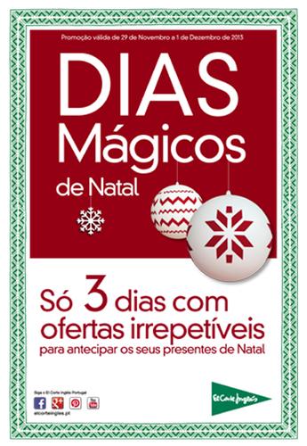 3 dias mágicos | EL CORTE INGLÉS | , de 29 novembro a 1 dezembro