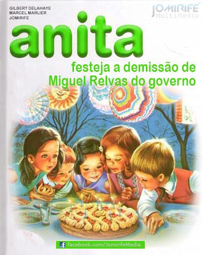 Anita festeja demissão de Miguel Relvas do govern