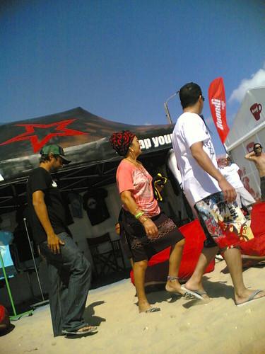A peixeira de Buarcos com os surfistas