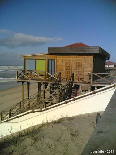 Vieira de Leiria: Bar na praia