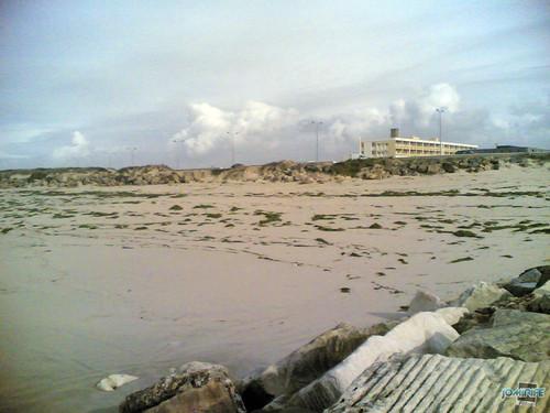 Temporal na praia do Cabedelo - Verde na praia