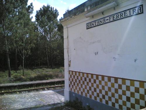 Estação de Comboios, Santana-Ferreira: Gare