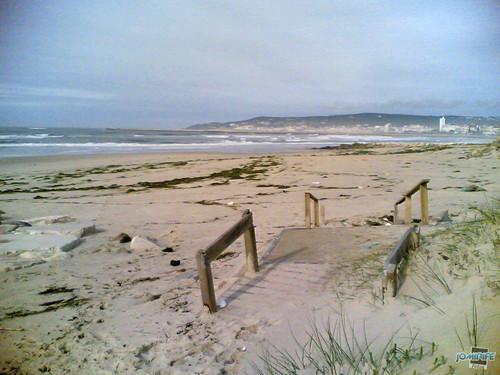 Temporal na praia do Cabedelo - Destruição