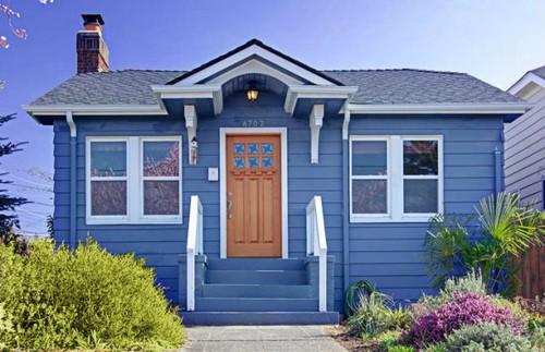 Paredes azuis em interiores e exteriores decora o e ideias for Colores para pintar mi casa por fuera
