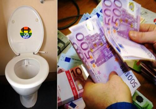 HD Notas de 500 euros encontradas em sanitas suiç