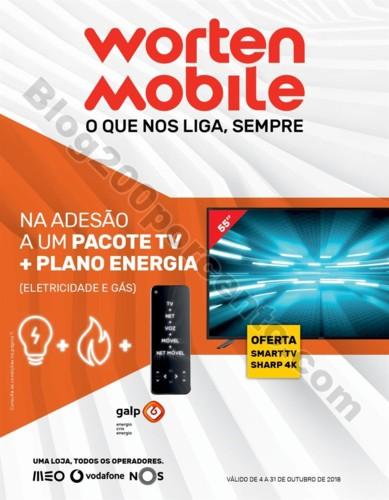 Antevisão Folheto WORTEN mobile promoções de 4