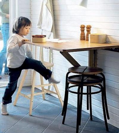 Pequenas Mesas Dobrveis Para A Cozinha Decorao E Ideias