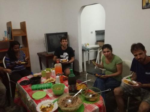 Jantar de acolhida na chegada