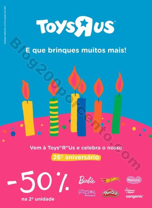 Antevisão Folheto TOYSRUS Aniversário Promoçõe