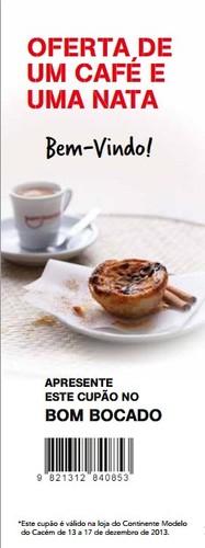 Oferta café e pastel de nata   CONTINENTE   Cacem, até 17 dezembro
