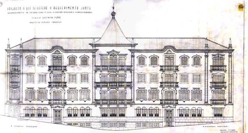 Fig. 31 – Casa dos irmãos Pratas. 1.º Projeto.