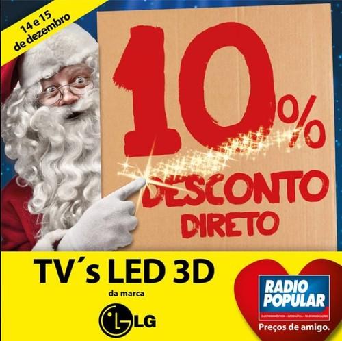 10% de desconto direto | RADIO POPULAR | dias 14 e 15 dezembro