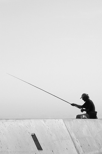 O José Grande, na pesca...