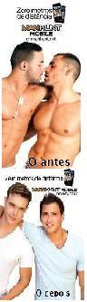 Publicidade a Manhunt firma de encontros gays