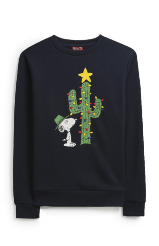 KIMBALL-71064MISSING-SNOOPY NAVY XMAS JUMPER, GRAD